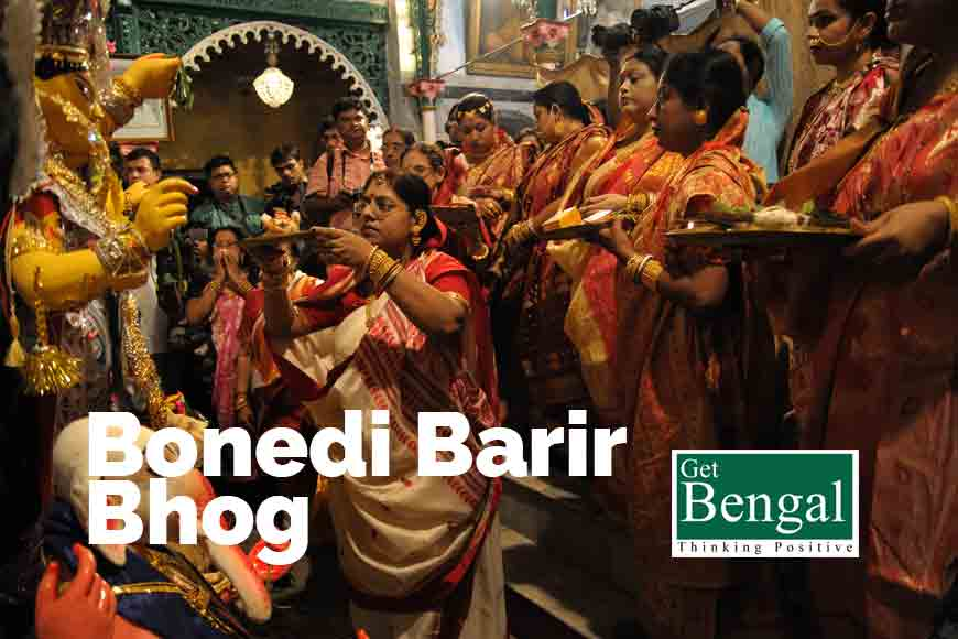 What do the 3-day sumptuous bhog of Durga Pujo signify?