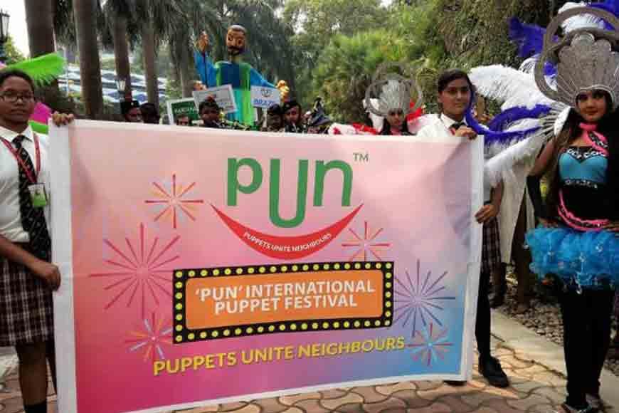 Student Atharv Vir Malhotra on a recent puppet show