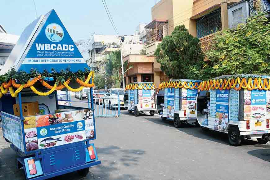 Solar-powered refrigerated vans deliver daily supplies to Kolkata's elderly population
