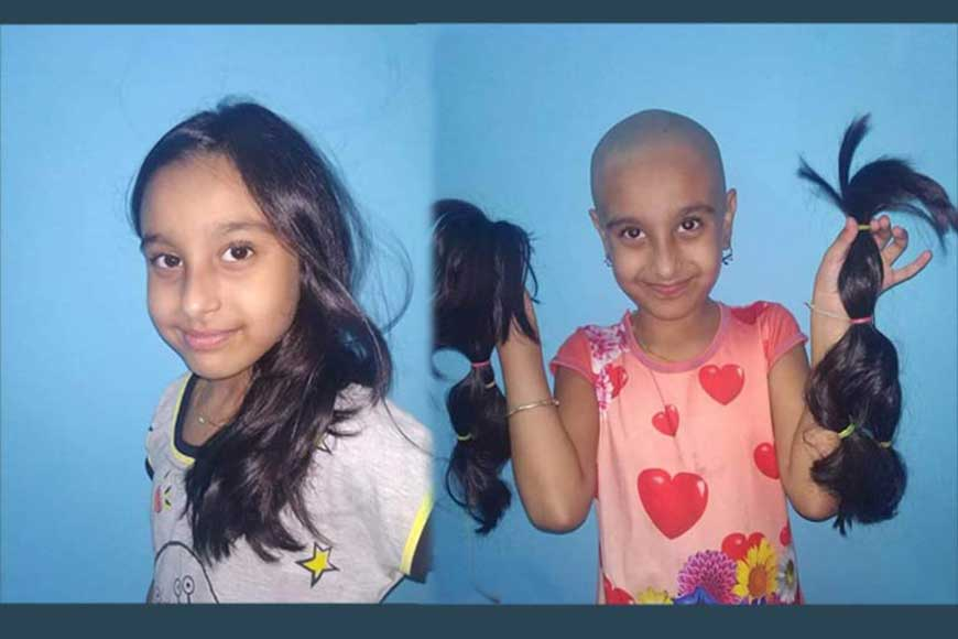 7-year-old Rishika chops off her long hair to donate to cancer patients