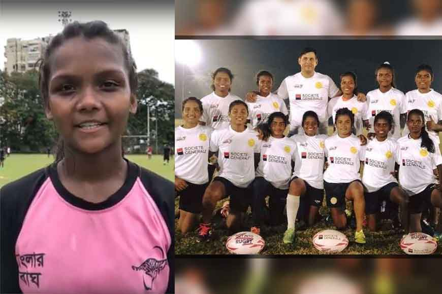 Rushmita Oraon of Jalpaiguri brings home the National Rugby cup