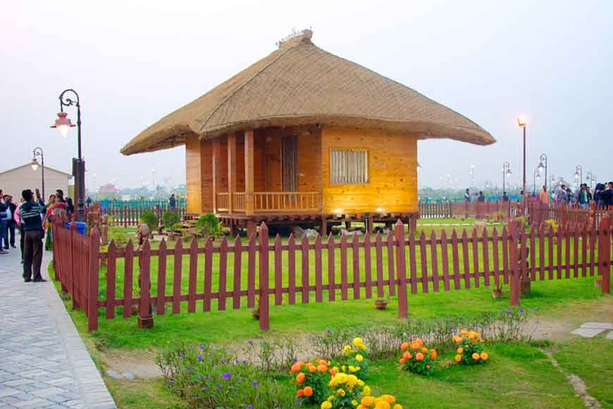Model of rural Bengal in Kolkata's Eco Park