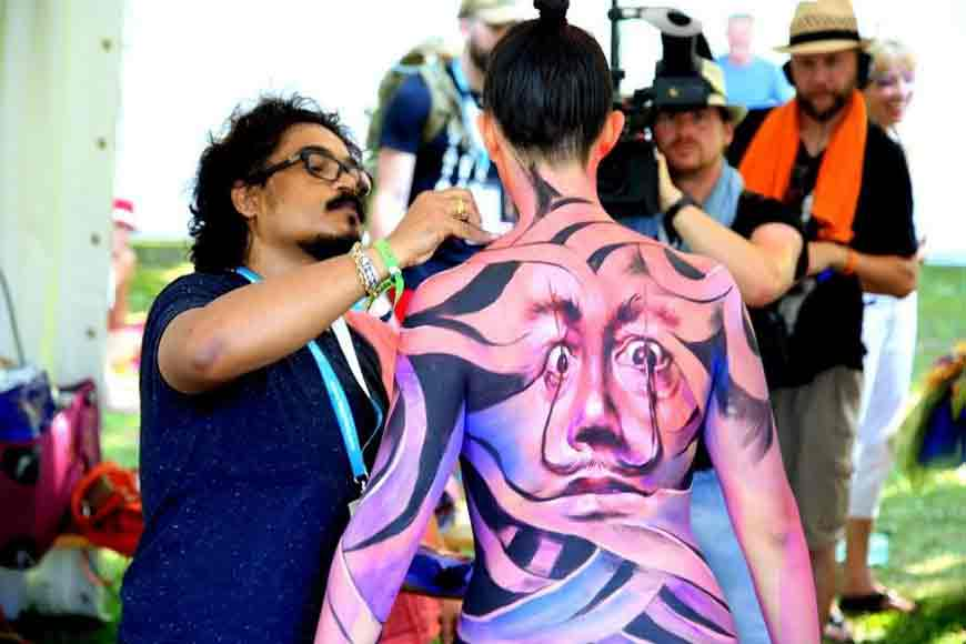 Artist Sanatan Dinda speaks to GB on nudity and body painting