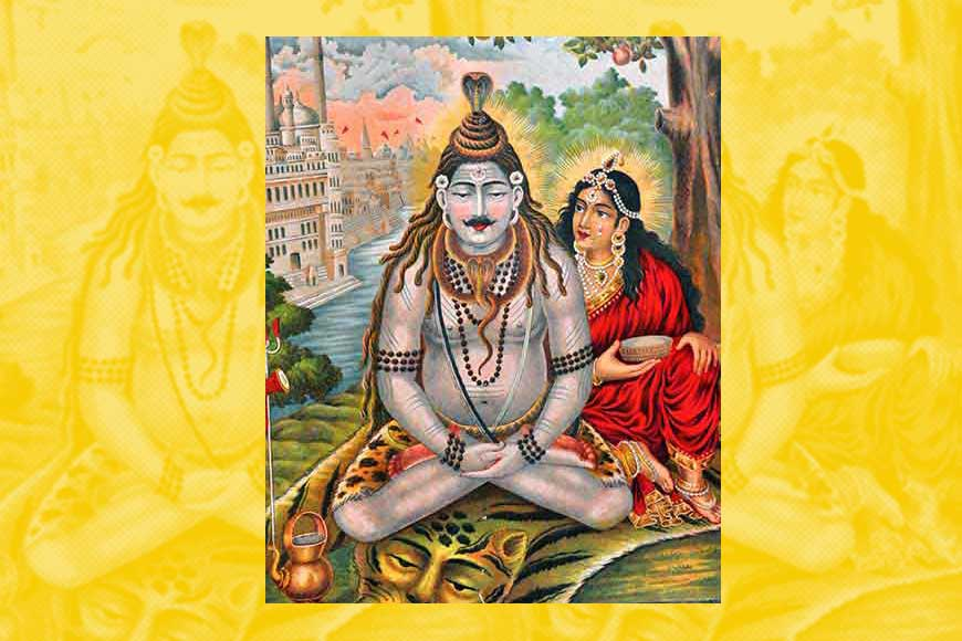 Even Shiv-Parvati litho-art of Bengal got a British aristocratic touch!