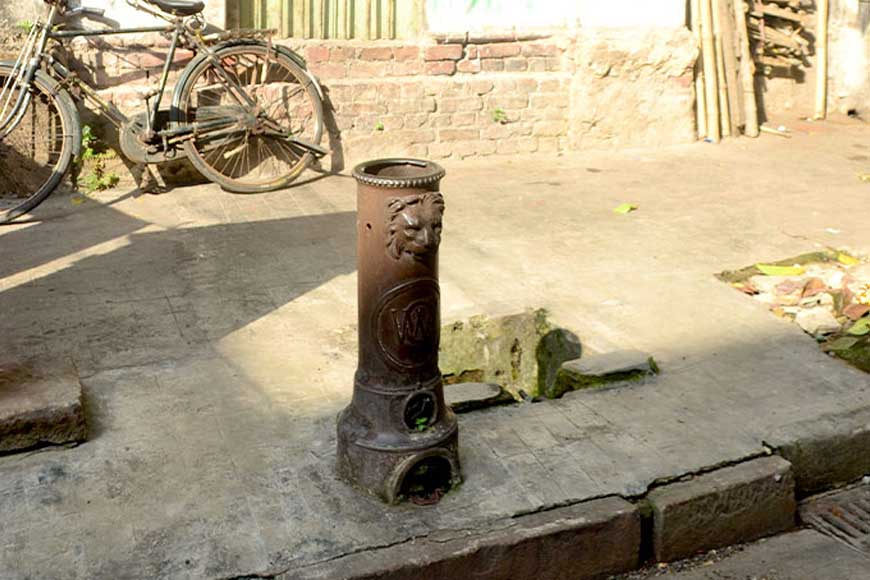 The Greco-Roman lion taps are still found on the streets of Kolkata