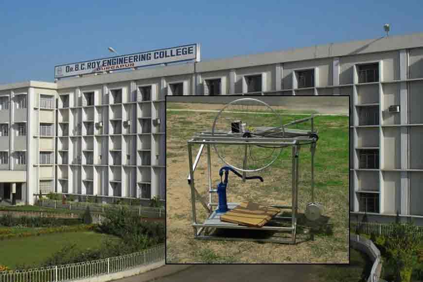 Engineering students of Durgapur BC Roy College invent solar pump