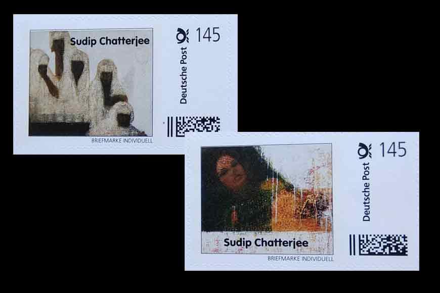 Kolkata artist's paintings on German stamps!