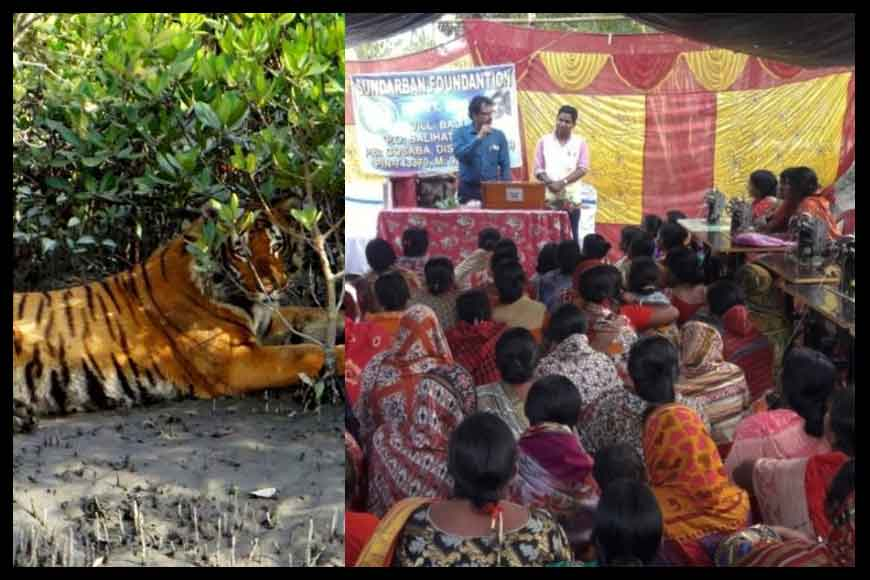 Hi-Fashion clothes this Puja being made by Tiger Widows of Sunderbans