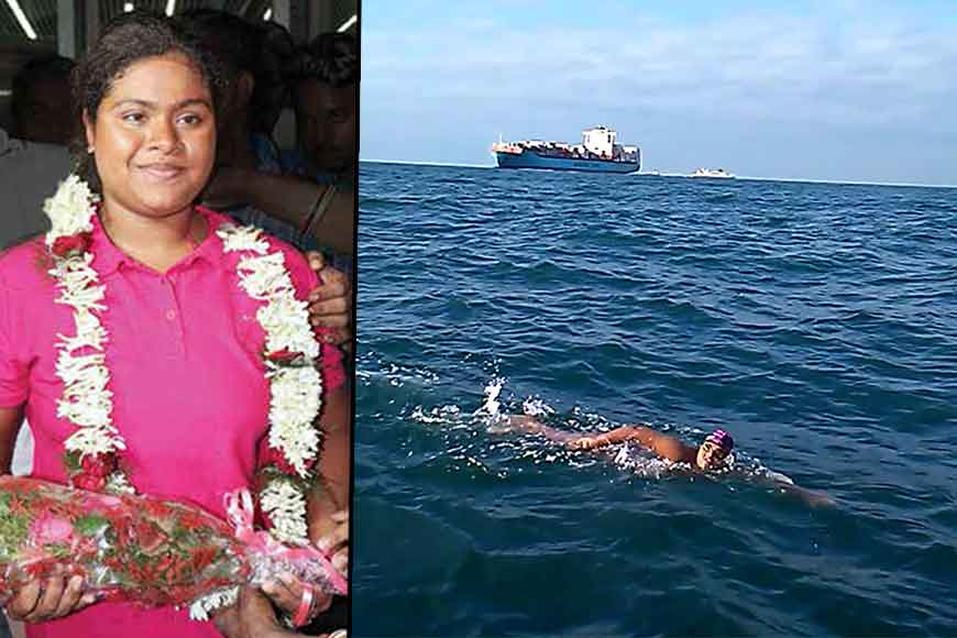 Swimmer Sayani Das from Kalna conquers Catalina Channel