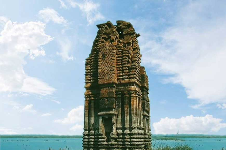 Ancient Jain temples submerged by Panchet Dam in Purulia
