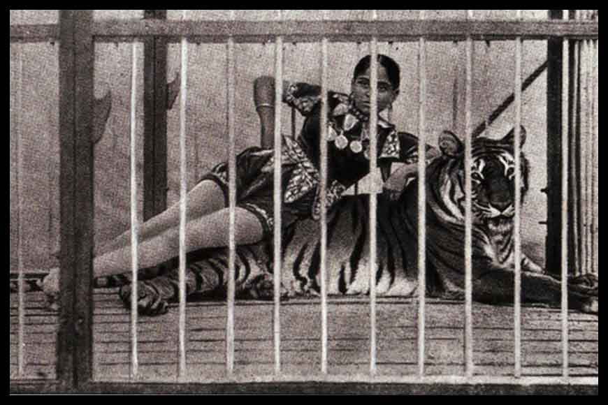 Bengali woman who first tamed tigers on a circus arena – wow! Sushila Sundari!