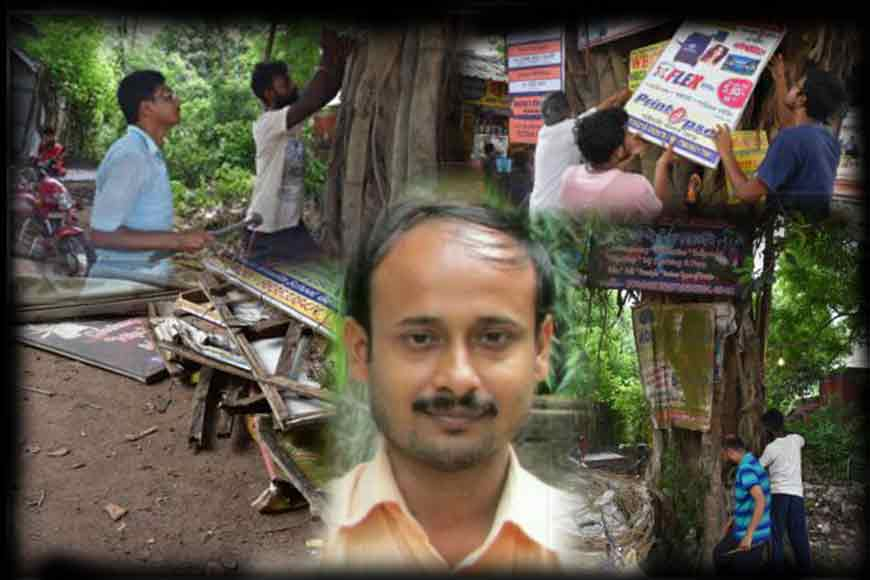 Meet Biswajit Ghosh, the 'Nail Man' who removes nails from all trees