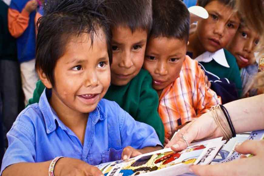 Travelling book fair for underprivileged kids of Kolkata