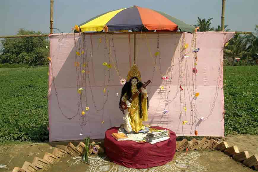 A village Saraswati Puja with a difference